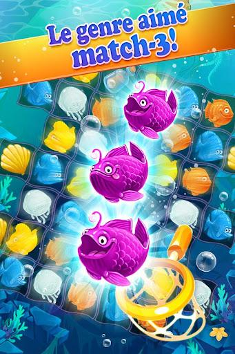 Mermaid -puzzle match-3 trésor  captures d'écran 1