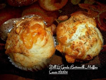 Dill & Gouda Buttermilk Muffins Recipe
