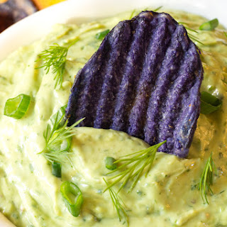 Creamy Avocado Ranch Dip.