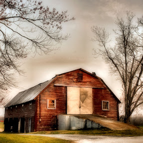 ~Smokey Road Barn~ by Kim Welborn - Buildings & Architecture Statues & Monuments ( nikon d200 )