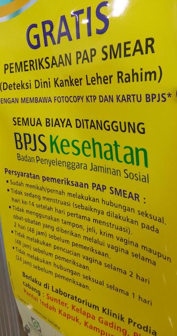 Pap Smear Gratis 2016 di Prodia bagi Wanita Peserta BPJS