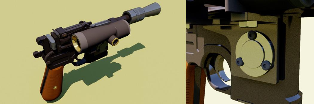 Han Solo's ESB Hoth DL-44 Heavy Blaster Pistol