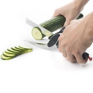 Cutit foarfeca de bucatarie 2 in 1 pentru legume sau verdeata