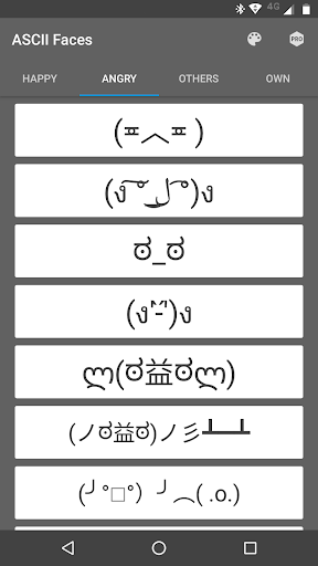 ascii faces by j2apps
