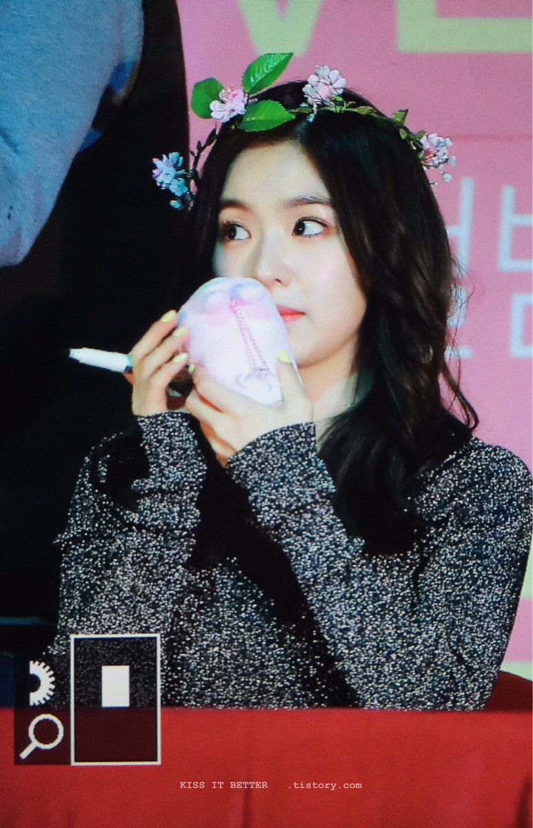 irene sniffing rabbit toy