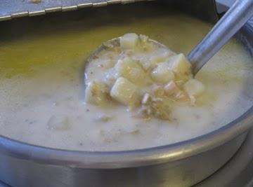 Quahog Chowder -pronounced Ko-hog Recipe