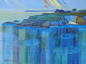 Photo: Mendocino Headlands, acrylic on canvas by Nancy Roberts, copyright 2014. Private collection.