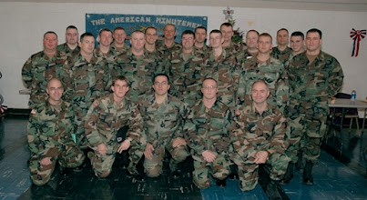 "Photo: Fire Direction soldiers deployed to Ft. Sill OK for a year (Jan-Dec 2004) in support of the Field Artillery School.  This was taken at their ""Welcome Home"" ceremony in December 2004"