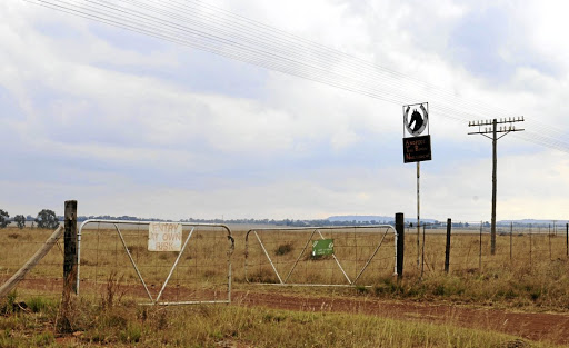 The entrance to Andries Terreblanche's farm at Nooitgedacht, about 40km outside Ventersdorp, where the 84-year-old worked his entire life as a farm hand.