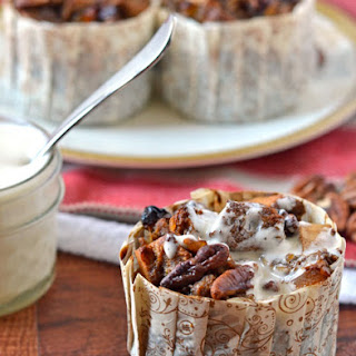 Gingerbread Bread Pudding with Bourbon Sauce.