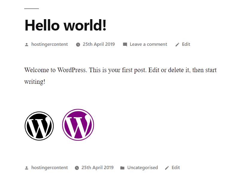 resultado da personalização do código html do ícone