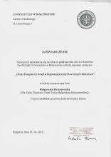 """Photo: 2013r Uniwersytet w Białymstoku; udział w Konferencji """"Obraz Hiszpanii / krajów hispanojęzycznych w innych krajach"""" , autorska praca """"Tropem Carmen, tytułowej bohaterki opery Bizeta"""""""