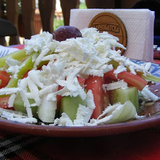 Authentic Bulgarian Salad Calls For Fresh Veggies And Feta Cheese