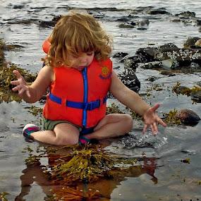 Beach Babe by Rita Taylor - Babies & Children Children Candids ( water, child, ocean, baby, beach,  )