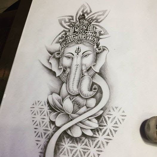 Beautiful Ganesha tattoo ideas for men and women
