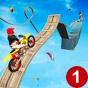 Stunt Bike Racing Impossible Tracks Stunt Games icon