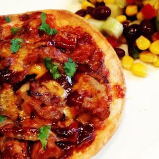 BBQ Pork Tortilla Pizza.