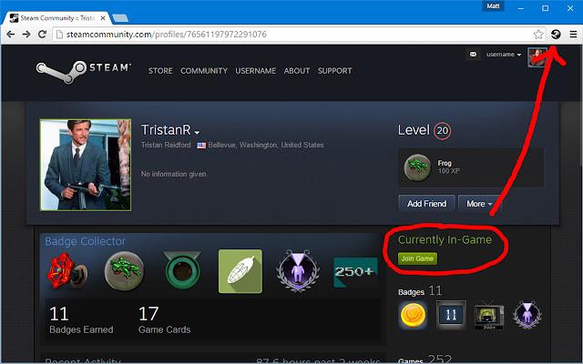Steam App Info Button