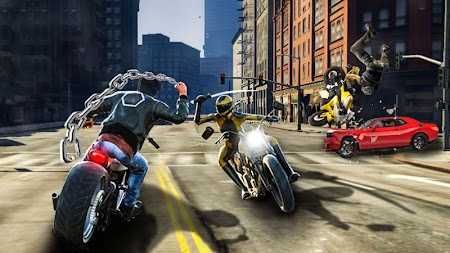 Bike Attack Race : Highway Tricky Stunt Rider APK screenshot thumbnail 1