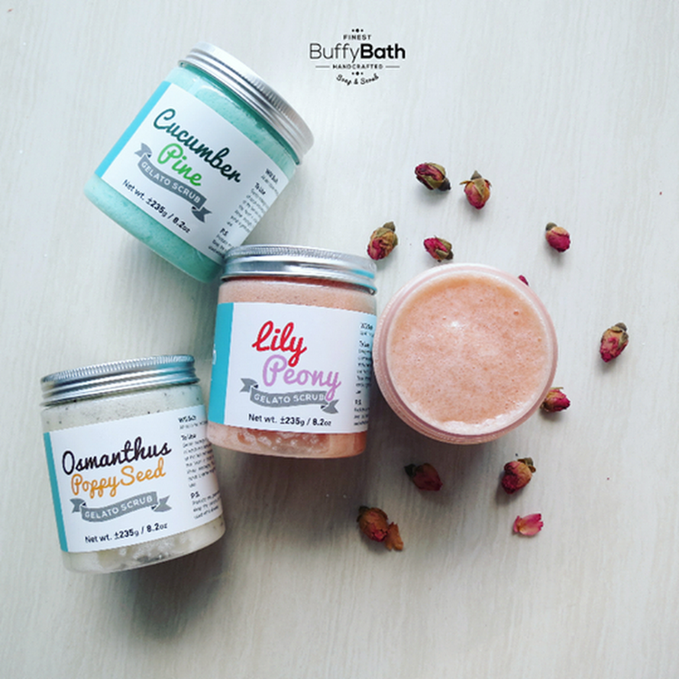 Lily Peony Gelato Scrub by BUFFY BATH ENTERPRISE