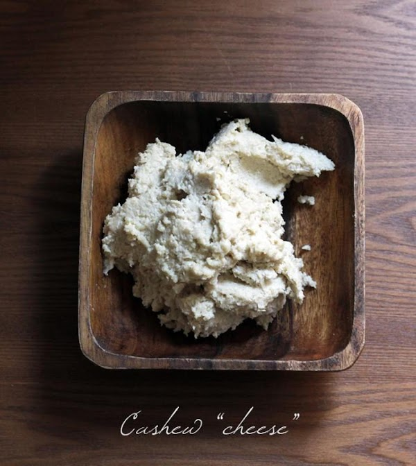 Meanwhile, put all cashew cheese ingredients into a high speed blender or food processor...