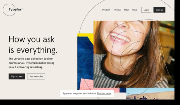 Saas website Typeform