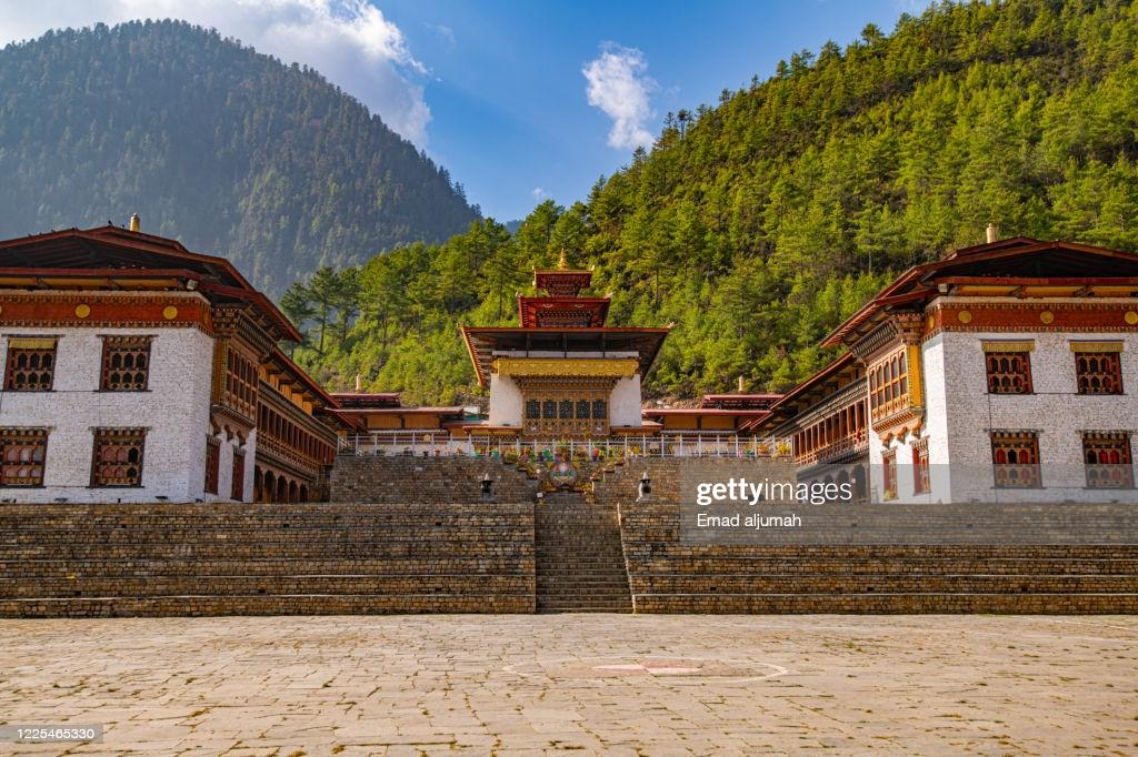 Lhakhang Karpo Haa Valley Bhutan High-Res Stock Photo - Getty Images