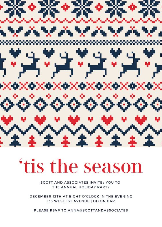 Holiday Sweater Season - Christmas Card Template