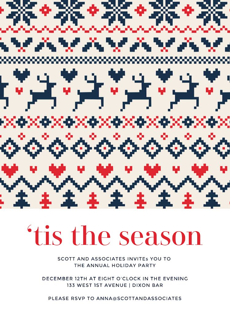 Holiday Sweater Season - Christmas Card Template