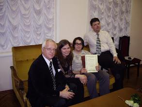 Photo: St. Petersburg, Akademiske Kapella, den 30. juni 2013 (etter konserten). Samans med Prof. Cand. Vladimir A. Chliapnikoff, Elena Snezhkova og Nikolai Karpov.