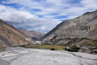 Photo: Remontée de la vallée de la Kali Gandaki (Kagbeni)