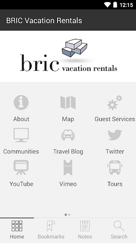 android BRIC Vacation Rentals Screenshot 1