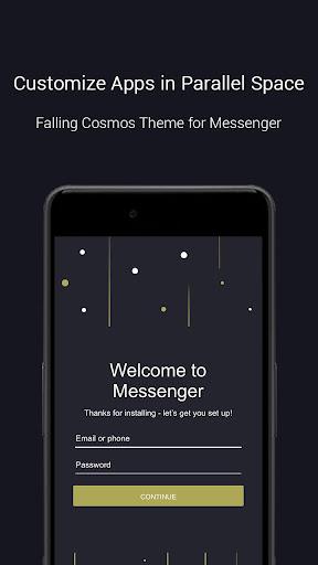 Falling Cosmos Theme-Messenger 1.0.3466 screenshots 1