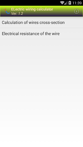 Electric wiring calculator