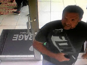Brian Wainstein seen on CCTV footage entering the Nutrition Rage store in Green Point.