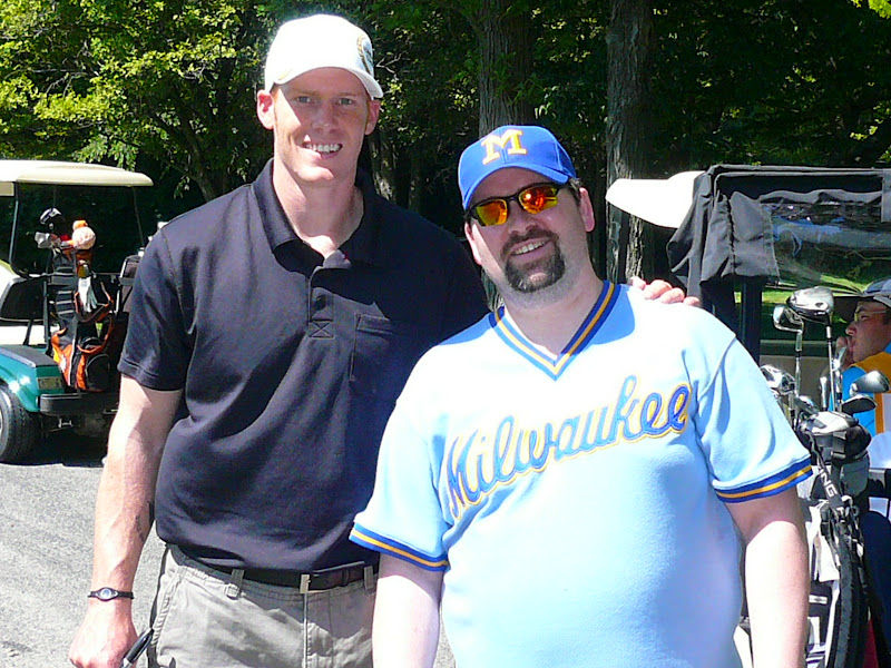 Photo: Me with Packers punter Tim Masthay