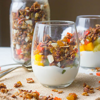 Homemade Granola & Tropical Fruit Parfait