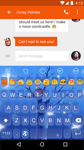 Cartoons -Love Emoji Keyboard