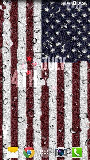 米国旗ライブ壁紙
