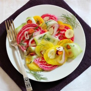 Marinated Beet, Carrot and Zucchini Salad