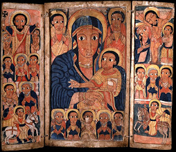 Photo: Title: Mary with Her Son Artist: Anonymous (Ethiopian) Medium: Tempera on wood Size: 38.1 x 44.44 cm Date: late 17th century Location: The Walters Art Museum, Baltimore. http://iconsandimagery.blogspot.com/2009/07/mary-and-her-son.html