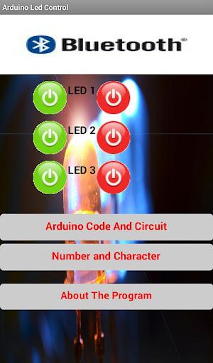 Arduino Bluetooth Led Control
