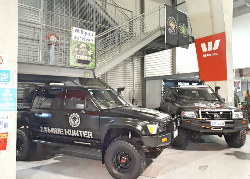 Zombie Hunters cars at the Armageddon