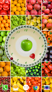Clocks Living Fruits Wallpaper- screenshot thumbnail