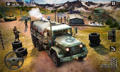 US Army Cargo Truck Transport Military Bus Driver 3