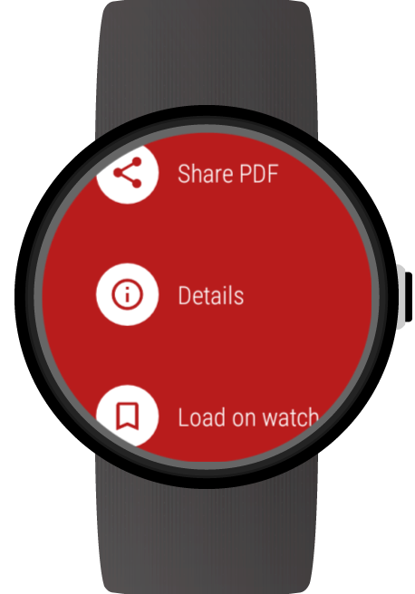 Documents for Wear OS (Android Wear) screenshots