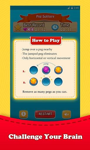 無料棋类游戏Appのペグソリティアボードパズル 記事Game