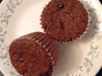 Yummy high fiber muffins (chocolate included)