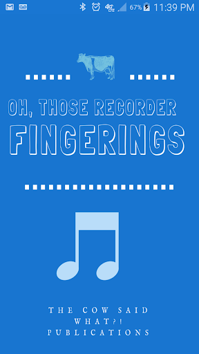 OH Those Recorder Fingerings