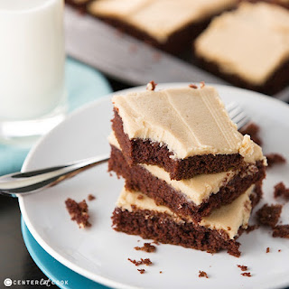 Chocolate Sheet Cake with Peanut Butter Frosting.